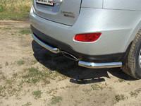 Защита задняя (центральная) 60,3 мм для Hyundai Santa Fe (2011 -) ТСС HYUNSF11-07
