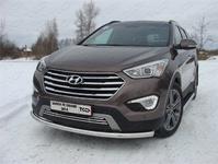 Защита передняя нижняя 60,3 мм для Hyundai Santa Fe Grand (2014 -) ТСС HYUNSFGR14-02