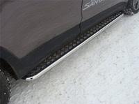 Пороги с площадкой 42,4 мм для Hyundai Santa Fe Grand (2014 -) ТСС HYUNSFGR14-06