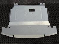 Защита картера двигателя алюминиевая 4 мм для Hyundai Santa Fe Grand (2014 -) ТСС HYUNSFGR14-15