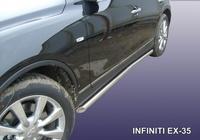 Пороги d57 с гибами для Infiniti EX35 (2008 -) Слиткофф IN.EX004