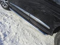 Пороги с площадкой 60,3 мм на Infiniti JX 35 (2013 -) ТСС INFJX3513-09