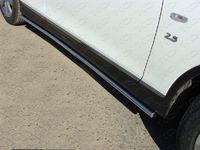 Пороги труба 42,4 мм для Infiniti QX50 (2014 -) ТСС INFQX5014-03