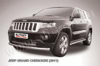 Защита переднего бампера d76 радиусная  для Jeep Grand Cherokee (2011 -) Слиткофф JGCH002