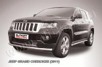 Защита переднего бампера d57 радиусная  для Jeep Grand Cherokee (2011 -) Слиткофф JGCH004