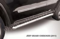 Пороги d57 с гибами для Jeep Grand Cherokee (2011 -) Слиткофф JGCH006