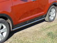 """Пороги """"труба"""" 60,3 мм на Kia Sportage (2010 -) ТСС KIASPORT10-02"""