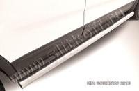 Пороги d76 труба для Kia Sorento (2012 -) Слиткофф KS13-007