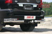 """Защита задняя """"уголки"""" d76 двойные на Lexus GX 470 (2003 -) СОЮЗ-96 LEXG.76.0077"""