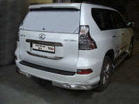 Защита заднего бампера (уголки) 76,1 мм для Lexus GX460 (2014 -) ТСС LEXGX46014-08