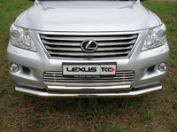 Решётка радиатора 16 мм на Lexus LX 570 (2007 -) ТСС LEXLX570-04