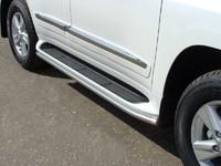 Защита порогов 42,4 мм на Lexus LX 570 (2012 -) ТСС LEXLX57012-02