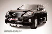 Защита переднего бампера d76 с профильной ЗК для Lexus LX570 (2012 -) Слиткофф LLX570-12-002