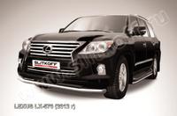 Защита переднего бампера d76 для Lexus LX570 (2012 -) Слиткофф LLX570-12-005