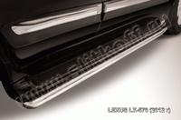 Защита штатного порога d57 для Lexus LX570 (2012 -) Слиткофф LLX570-12-007