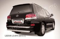 Защита заднего бампера d76 радиусная для Lexus LX570 (2012 -) Слиткофф LLX570-12-010