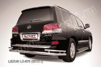 Защита заднего бампера d76+d42 двойная для Lexus LX570 (2012 -) Слиткофф LLX570-12-011