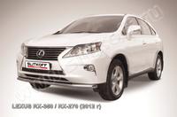 Защита переднего бампера d57 для Lexus RX (2012 -) Слиткофф LRX35-12.004