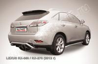 """Защита заднего бампера d57 """"скоба"""" для Lexus RX (2012 -) Слиткофф LRX35-12.011"""