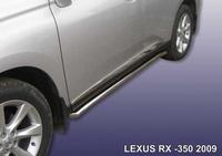 Пороги d57 труба с гибами для Lexus RX (2009 -) Слиткофф LRX35012