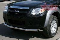 """Защита переднего бампера d76 """"труба"""" на Mazda BT-50 (2007 -) СОЮЗ-96 MABT.48.0465"""