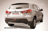 Защита заднего бампера d76 короткая для Mitsubishi ASX (2010 -) Слиткофф MAS011