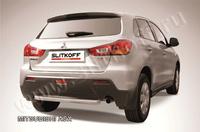 Защита заднего бампера d57 короткая для Mitsubishi ASX (2010 -) Слиткофф MAS012