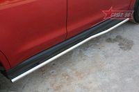 "Пороги ""труба"" d42 изогнутые на Mitsubishi ASX (2010 -) СОЮЗ-96 MASX.80.1131"