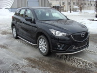 Защита передняя нижняя 42,4 мм на Mazda CX-5 (2012 -) ТСС MAZCX512-01