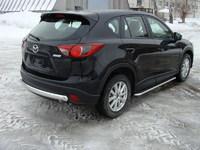 Защита задняя (центральная) 75х42 мм на Mazda CX-5 (2012 -) ТСС MAZCX512-05