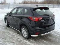 "Защита задняя ""уголки"" 75х42 мм на Mazda CX-5 (2012 -) ТСС MAZCX512-07"