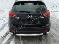 Защита задняя (центральная короткая) 75х42 мм на Mazda CX-5 (2012 -) ТСС MAZCX512-08