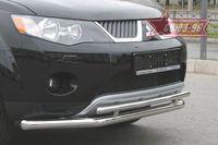Защита переднего бампера d60/42 двойная на Mitsubishi Outlander XL (2006 -) СОЮЗ-96 MIOU.48.0479