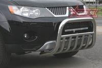 Решетка передняя мини d60 с нижней защитой на Mitsubishi Outlander XL (2006 -) СОЮЗ-96 MIOU.57.0478