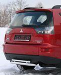 Защита заднего бампера d60/42 двойная на Mitsubishi Outlander XL (2010 -) СОЮЗ-96 MIOU.75.1041