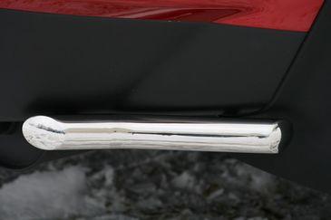 Защита задняя «уголки» d42 на Mitsubishi Outlander XL (2010 -) СОЮЗ-96 MIOU.76.1038