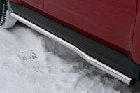 "Пороги ""труба"" d60 изогнутые на Mitsubishi Outlander XL (2010 -) СОЮЗ-96 MIOU.80.1030"