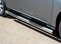 Пороги с проступями d76 на Mitsubishi Outlander (2012 -) СОЮЗ-96 MIOU.81.1561