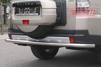 Защита заднего бампера d76 одинарная на Mitsubishi Pajero 4 5D (2006 -) СОЮЗ-96 MIPJ.75.0475