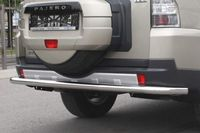 Защита заднего бампера d60 одинарная на Mitsubishi Pajero 4 (2006 -) СОЮЗ-96 MIPJ.75.0477