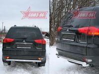 Защита задняя d60 радиусом на Mitsubishi Pajero Sport (2008 -) СОЮЗ-96 MIPS.75.0785