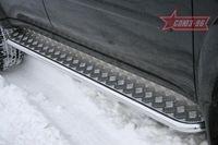 Пороги с листом d42 на Mitsubishi Pajero Sport (2008 -) СОЮЗ-96 MIPS.82.0780
