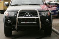 Решетка передняя мини d60 высокая на Mitsubishi L200 (2006 -) СОЮЗ-96 MITL.55.0444