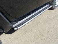 Пороги с площадкой 60,3 мм для Mitsubishi L200 (2014 -) ТСС MITL20014-06