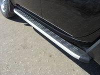 Пороги алюминиевые с пластиковой накладкой (1820) для Mitsubishi L200 (2014 -) ТСС MITL20014-08
