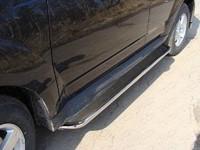 Пороги с площадкой (нерж. лист) 42,4 мм для Mitsubishi Outlander XL (2010 -) ТСС MITOUT12-12