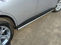 Пороги труба из нержавейки 60,3 мм на Mitsubishi Outlander (2014 -) ТСС MITOUT14-10
