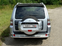 Защита заднего бампера 60,3 мм для Mitsubishi Pajero 4 (2013 -) ТСС MITPAJ413-08