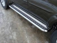 Пороги с площадкой 60,3 мм для Mitsubishi Pajero Sport (2014 -) ТСС MITPASPOR14-05