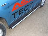 Пороги овальные с проступью 75х42 мм на Mitsubishi ASX (2013 -) ТСС MITSASX13-05